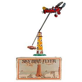 1937 Marx, Sky Bird Flyer with zeppelin in Original Box