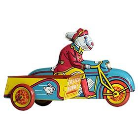 1949 Wyandotte, Easter Bunny Delivery Motorcycle with Sidecar